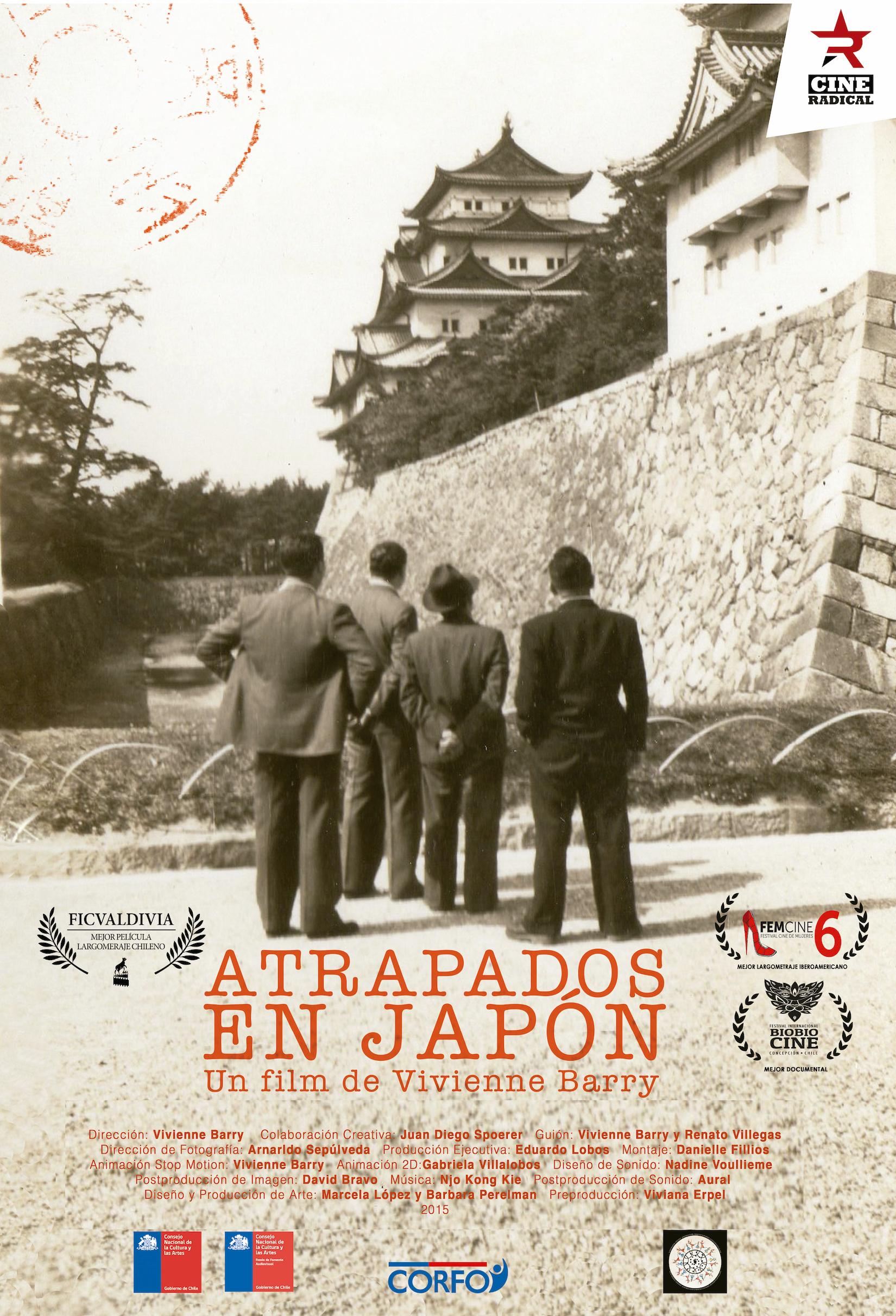 Afiche atrapados en japón