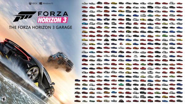 Forza Horizon 3 car poster