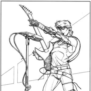 Johnny Silverhand en el manual de 2020